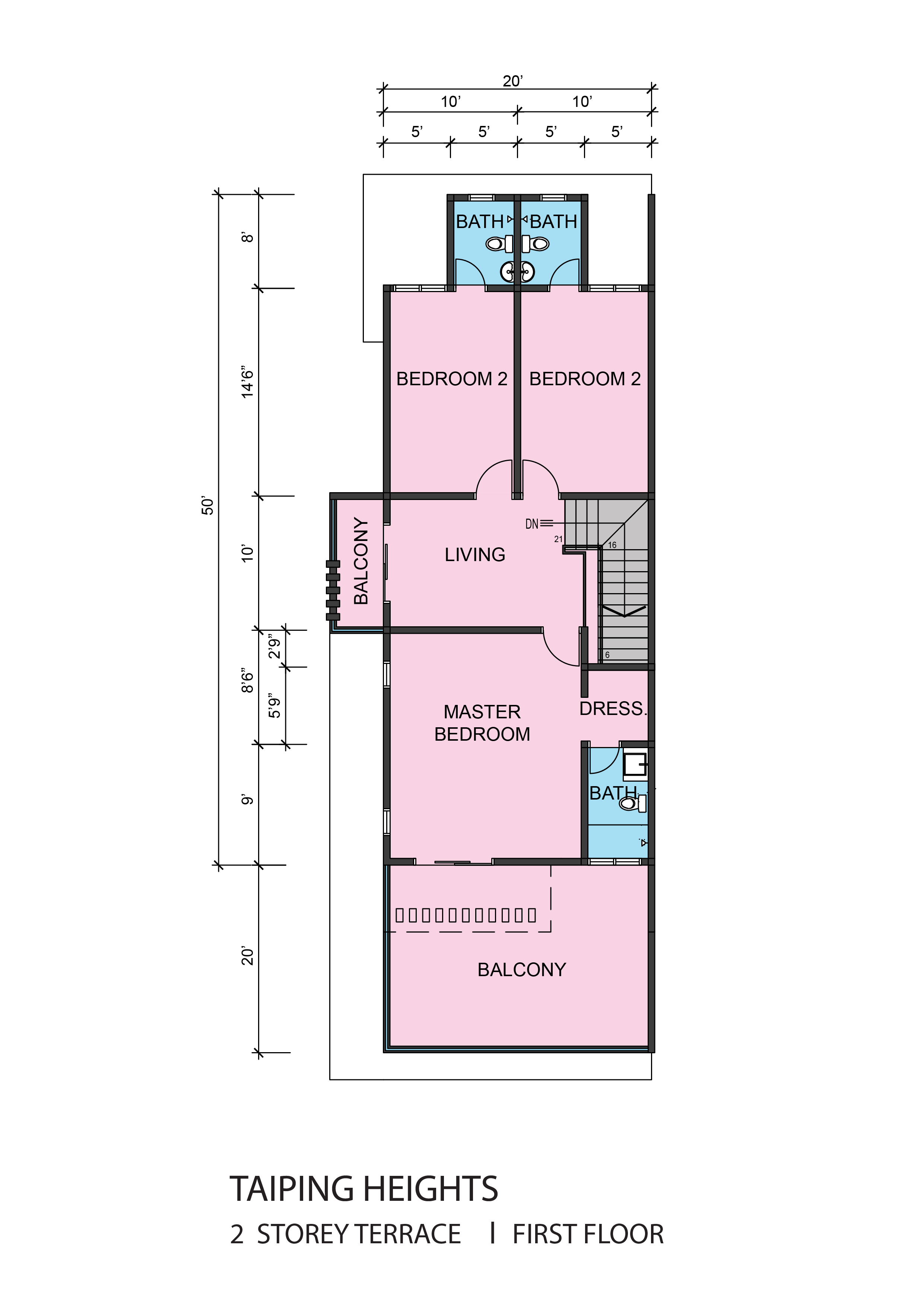 Taiping Heights 2 Storey Electrical Plan Terrace